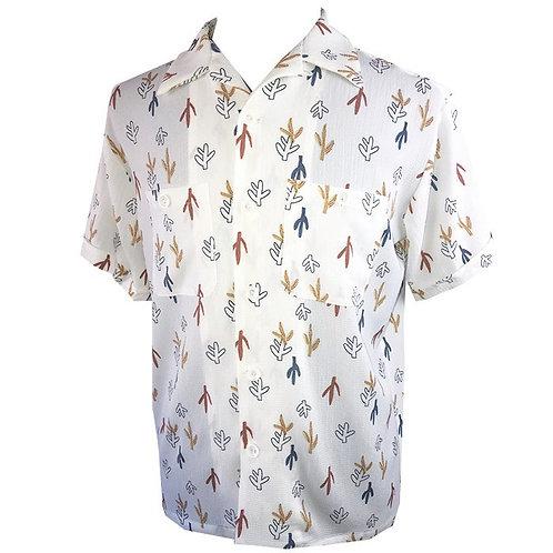 Swankys Vintage Atomic Cactus print White shirt