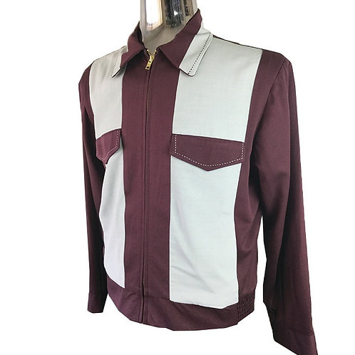 Swankys Vintage Johnny D Rockabilly Burgundy Jacket