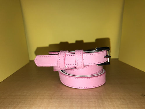Swankys Vintage Skinny Men's Pink Leather Belt
