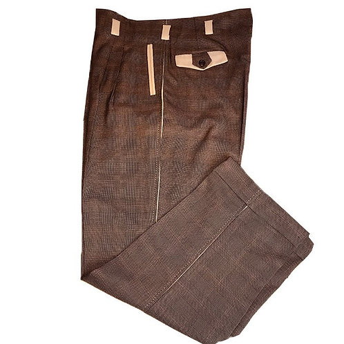Swankys Vintage  Brown two tone Style Pants