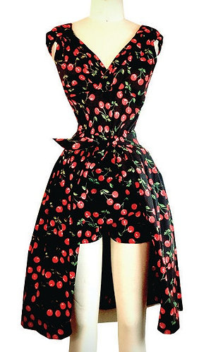 Swankys Vintage 2pc Hollywood black cherry  Playsuit/Romper