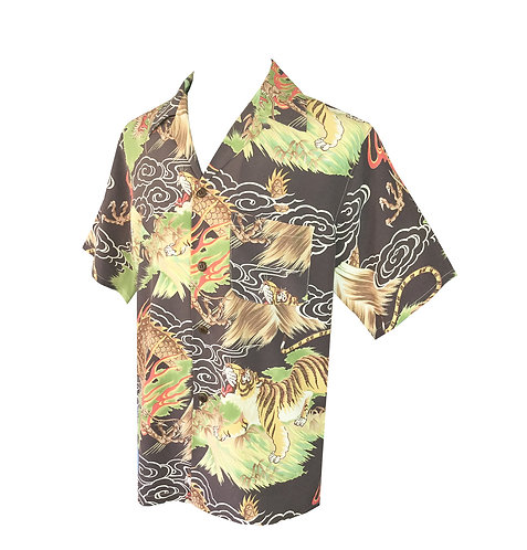 Swankys Vintage Hawaiian Shirt Brown