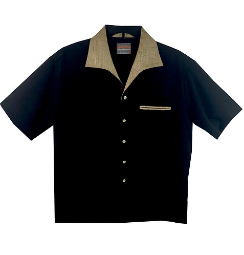 Swankys Vintage BLACK and GOLD speck Valens 1950s Shirt