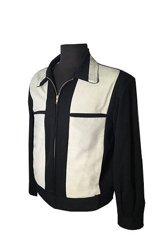 Swankys Vintage Johnny D Black & Cream Jacket