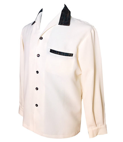 "Swankys Vintage ""Elvis"" Ivory Shirt"