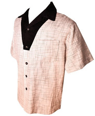 Swankys Vintage V-Panel Coral Button Up Shirt