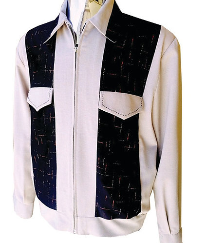 Swankys Vintage Johnny D Rockabilly Beige Jacket