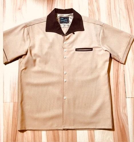 Sir Swanky Rayon Tan Camp Shirt