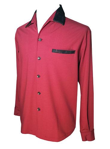 "Swankys Vintage ""Elvis"" Burgundy Shirt"