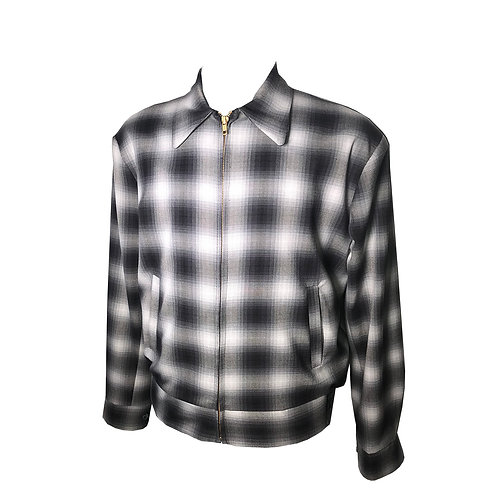 Swankys Vintage Rockabilly Black Shadow Plaid Memphis Jacket