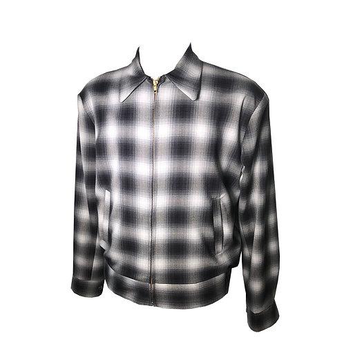 Swankys Vintage Rockabilly Black Shadow Plaid Memphis Jacket