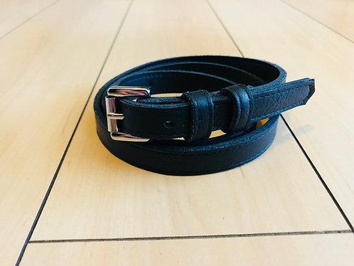Swankys Vintage Skinny Men's Black Leather Belt