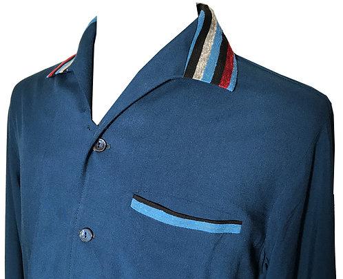 "Swankys Vintage ""Elvis"" Blue Shirt"