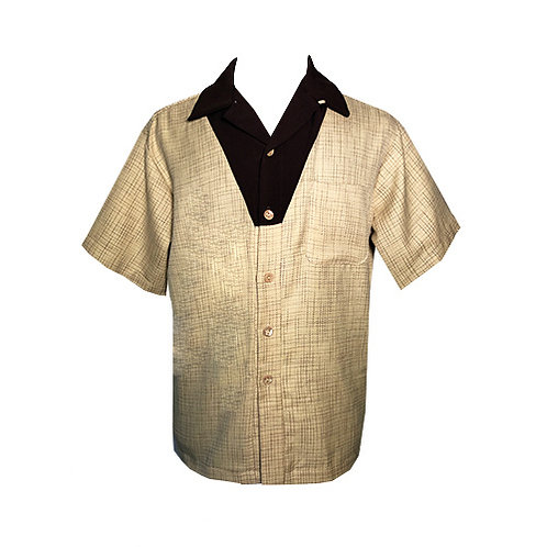 Swankys Vintage V-Panel Yellow Button Up Shirt
