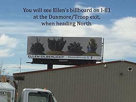 Art Pop billboard of work by ellen silberlicht