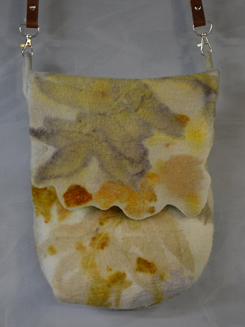 Eco printed purse