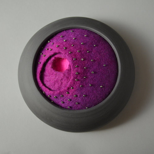 Purple cave wall piece