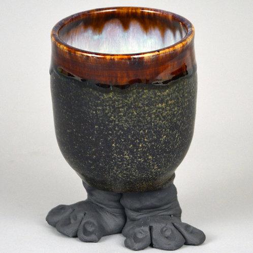 Foot cup in dark brown