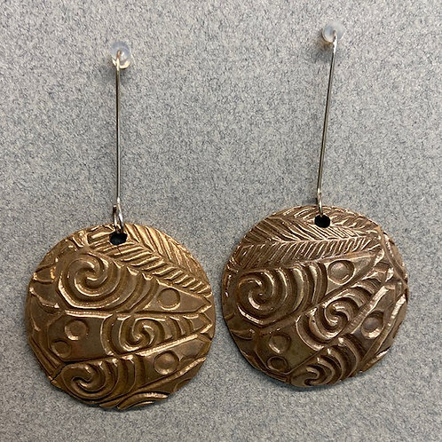 Textured domed earrings