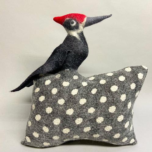 Woodpecker pillow