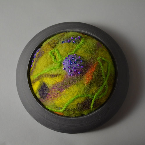 Lime Planet wall piece