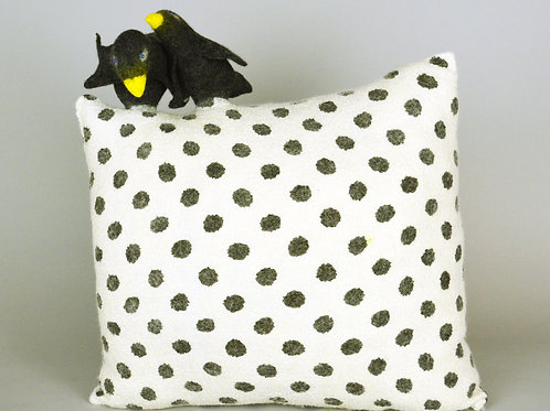 Black birds on a pillow