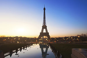 Eiffel Tower in Paris during sunset