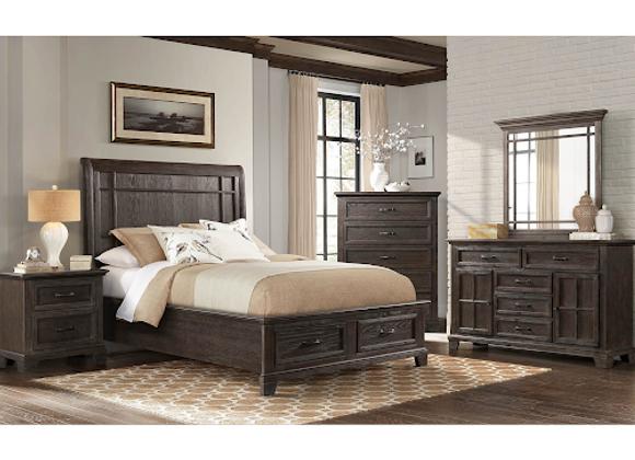 Bed - 1140 Charleston Queen Storage Sleigh