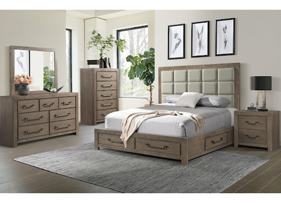 Bed - 1054 Urban Swag Queen Storage Bed