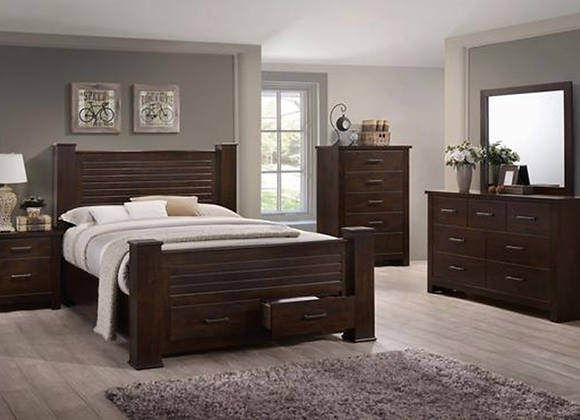 Espresso Bedroom with Drawers