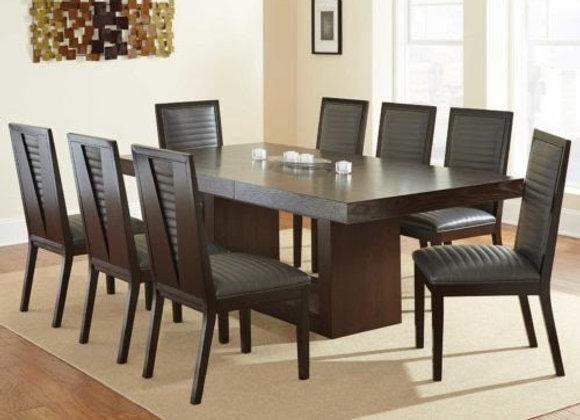Antonio Gray 9 Piece Set(Table & 8 Side Chairs)