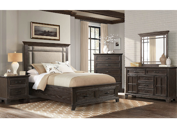 Bed - 1140 Charleston Queen Upholstered Storage Panel