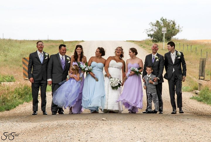 wedding party in Saskatchewan