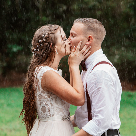 Theres something to be said for a wedding in the rain