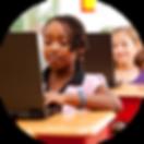 Students using keyboarding software
