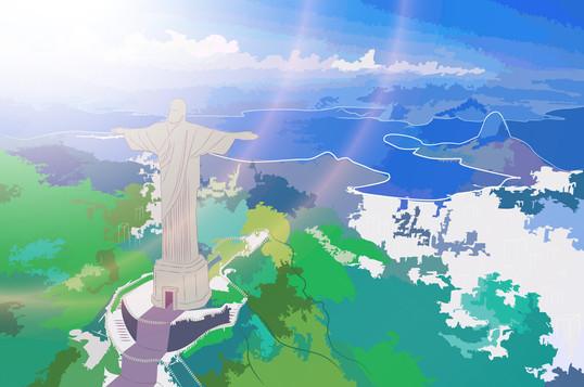 Illustration Corcovado (Brésil)