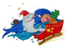 "Illustration ""Joyeuses fêtes chez Soso Baleineau"