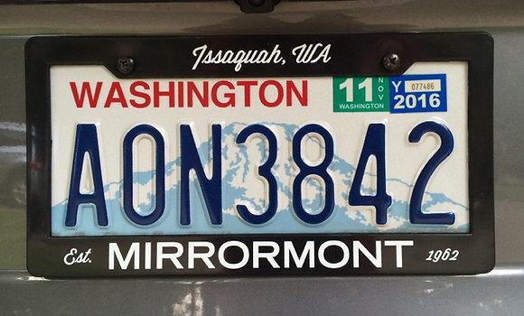 Mirrormont License Plate