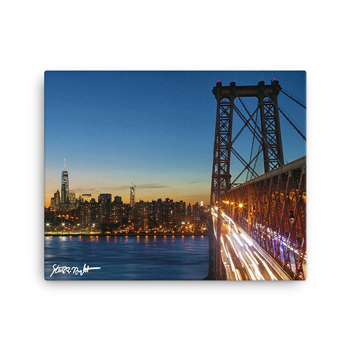 """Williamsburg Bridge - Canvas (16x20"""")"""
