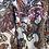 Thumbnail: Voile rayure lurex satin cachemire