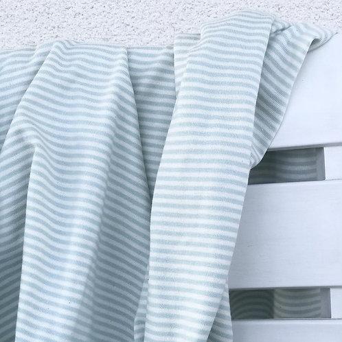 Jersey rayé vert d'eau et blanc