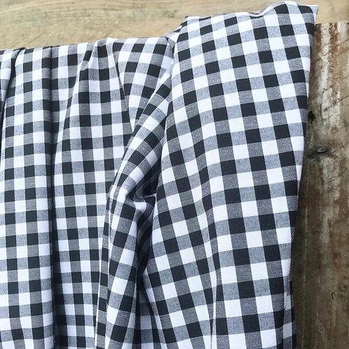Vichy small noir et blanc - carreaux 7 mm