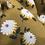 Thumbnail: Crêpe Viscose moutarde à fleurs