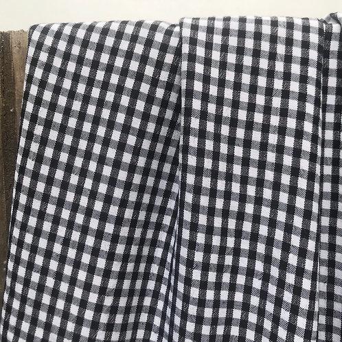 Vichy baby noir et blanc - carreaux 4 mm CO 65 %