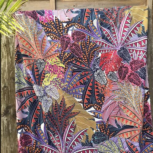 Jersey Crêpe palmeraie multicolore