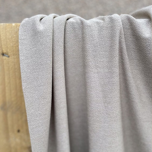 Maille jersey crêpe coloris ficelle