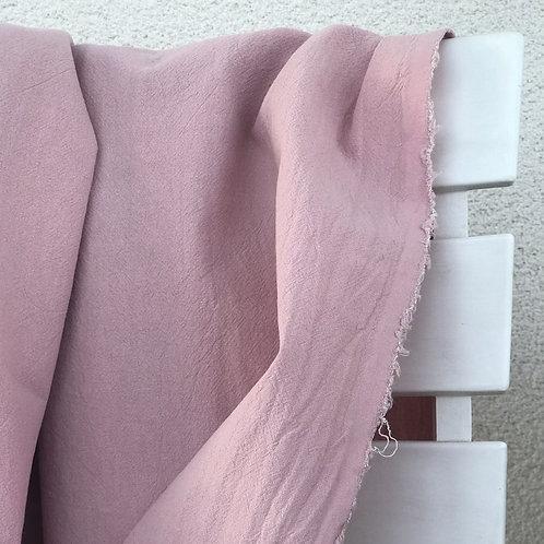 coton lavé vieux rose Oeko-tex