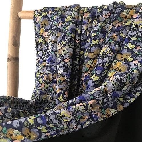 Jersey maille tricotée à petites fleurs