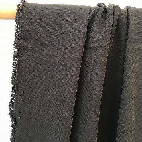 Viscose structuré lavé Noir