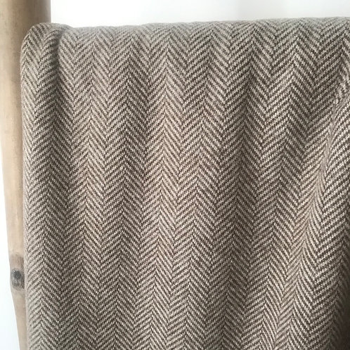 Tweed chevron beige et marron